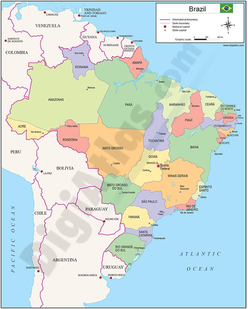 Mapa de Brasil