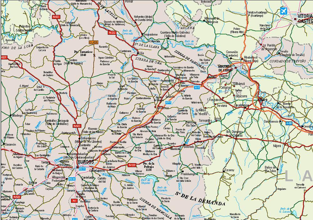 Burgos Spain  city images : Burgos Spain Map Map of Burgos