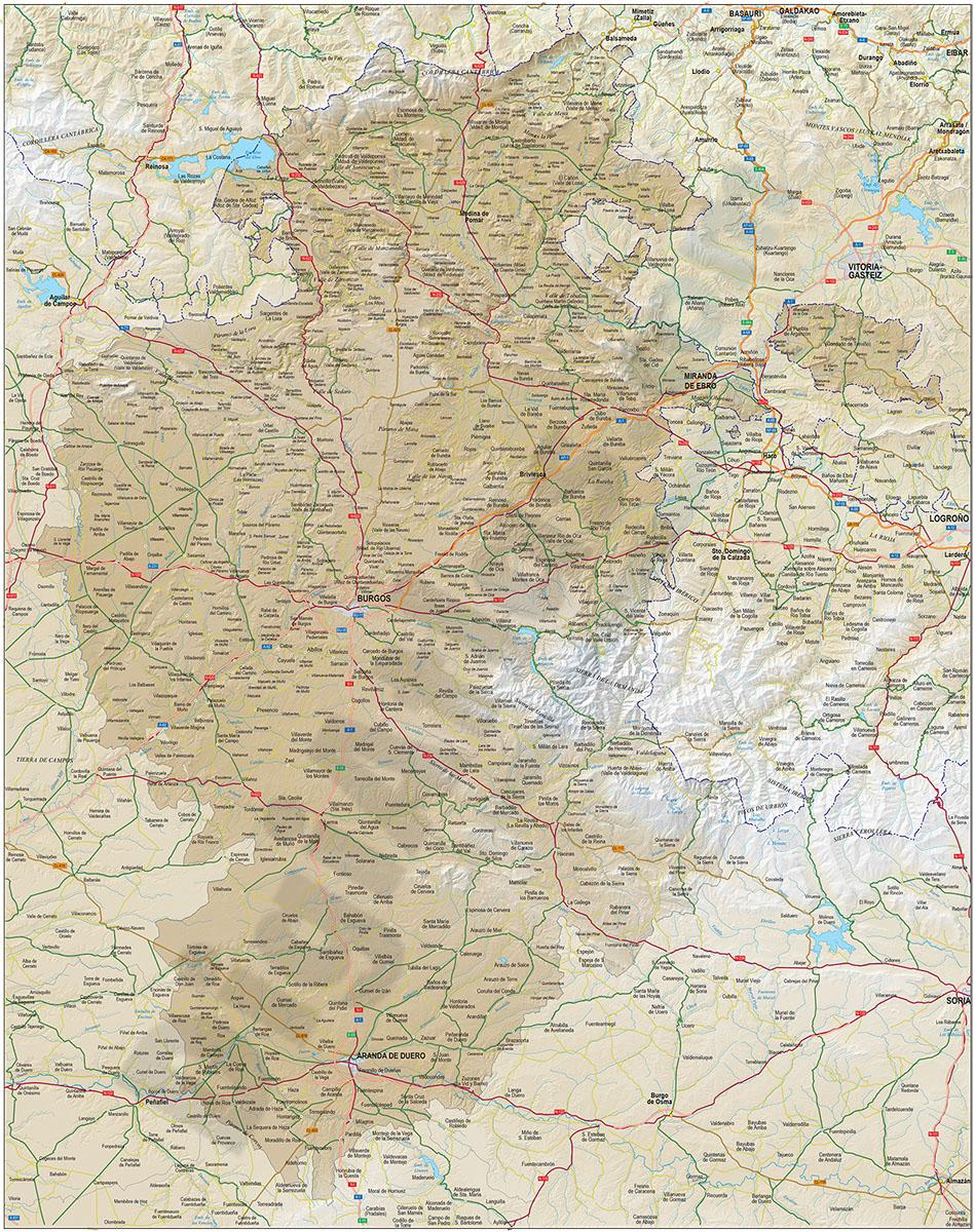 burgos spain map