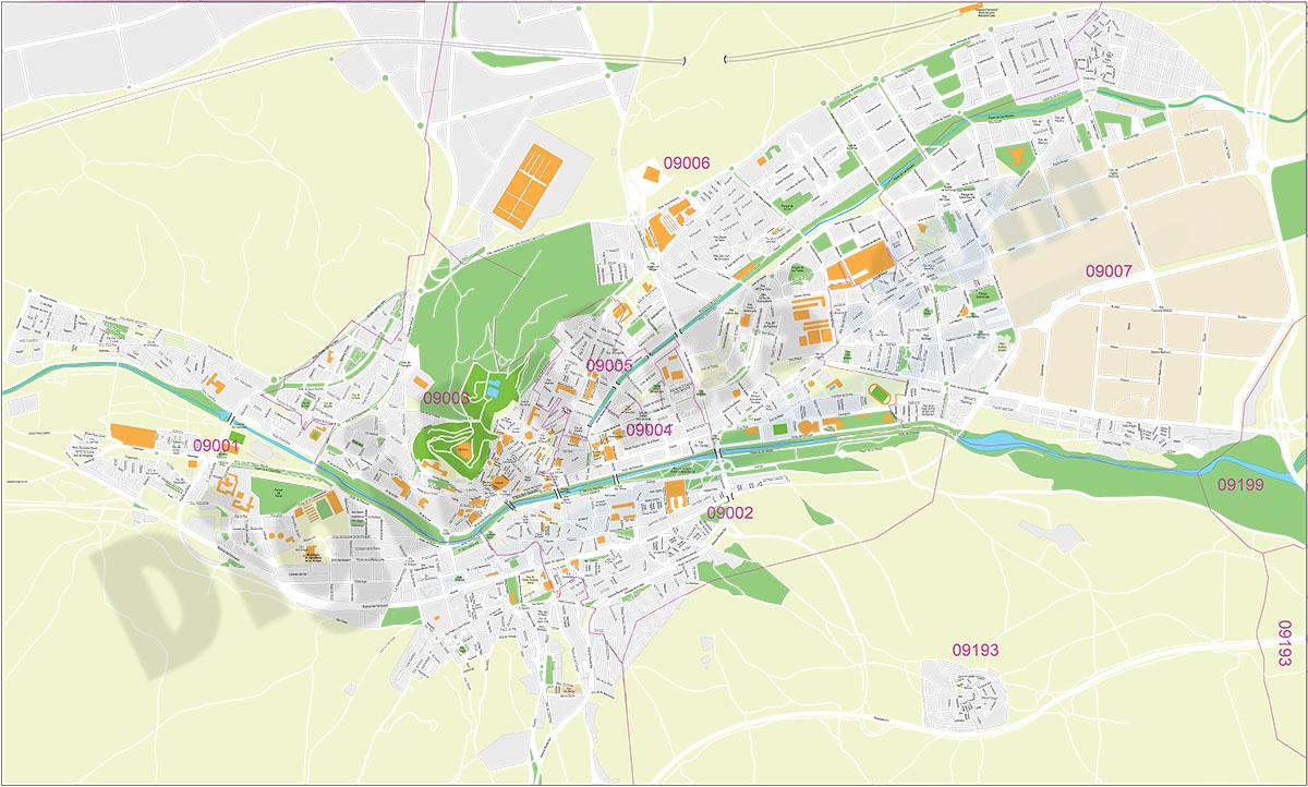 Burgos - city map