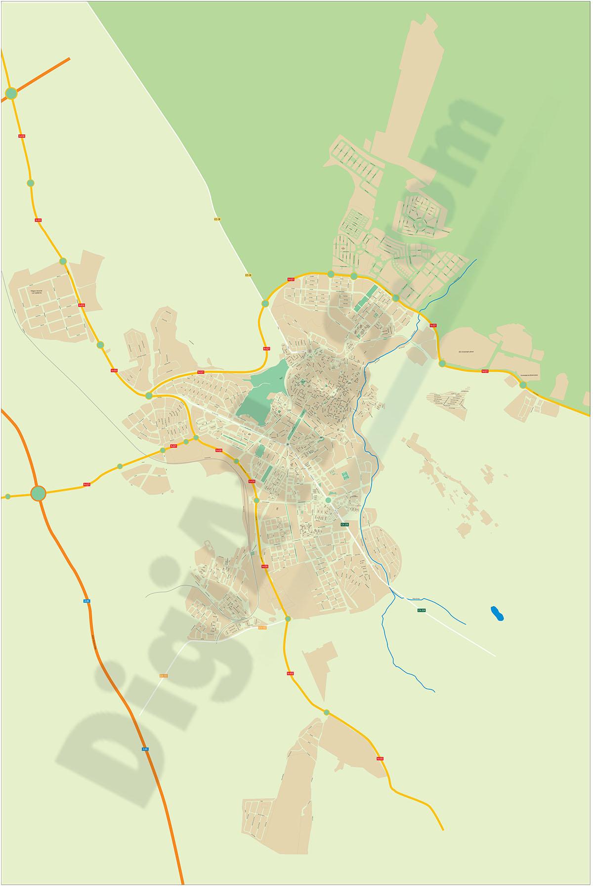 Cáceres - plano callejero