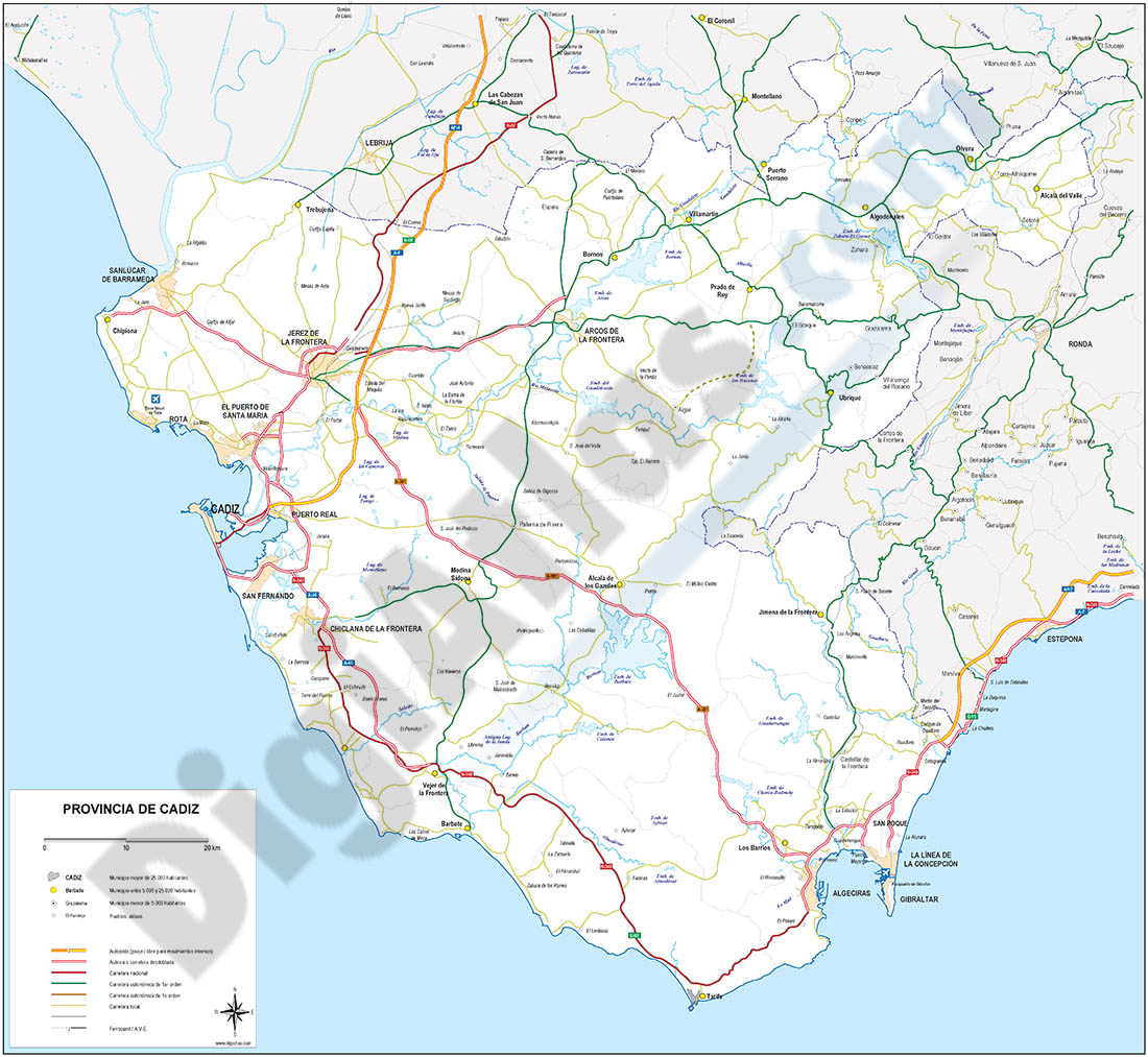 Map of Cadiz