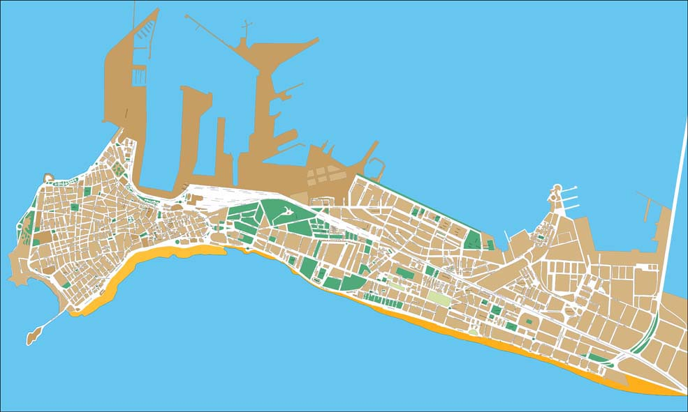 Cadiz- city map