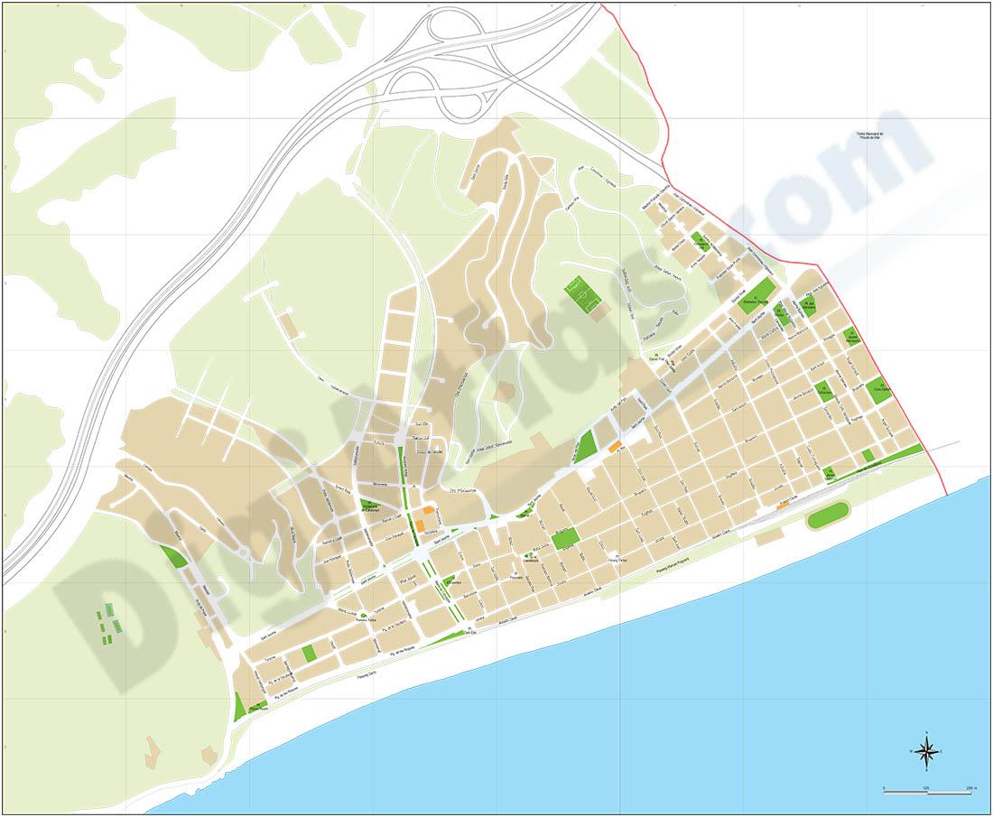 Calella (Barcelona) city map