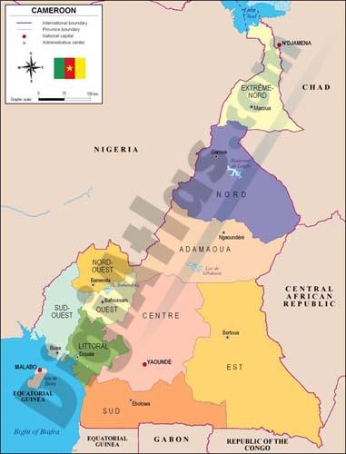 Mapa de Camerún