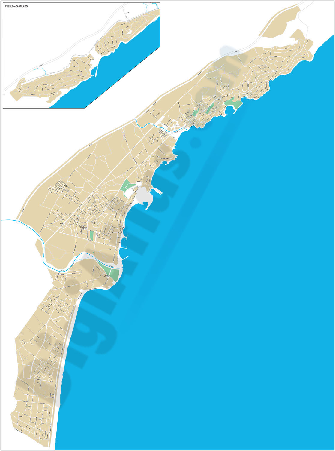 Campello (province of Alicante) - city map