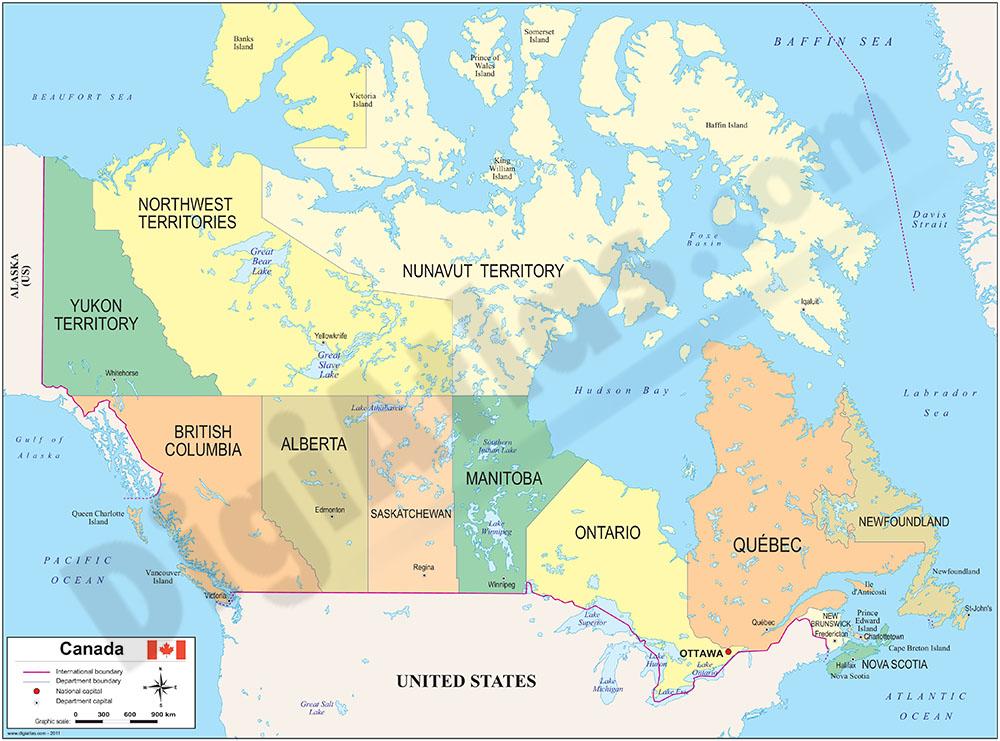 Mapa de Canadá