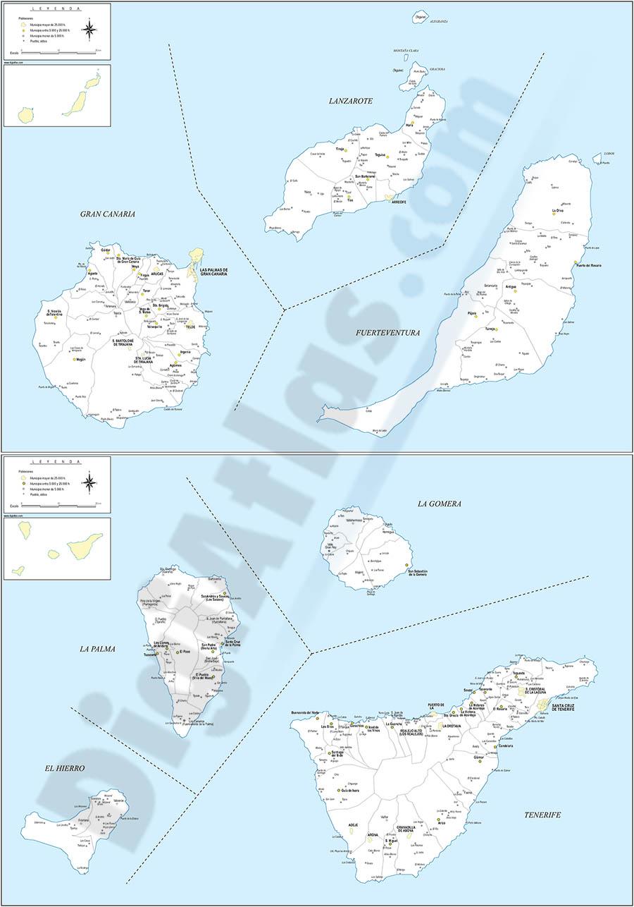 Mapa De Fuerteventura Municipios.Digiatlas Mapas Y Planos Digitales Mapas De Codigos Postales