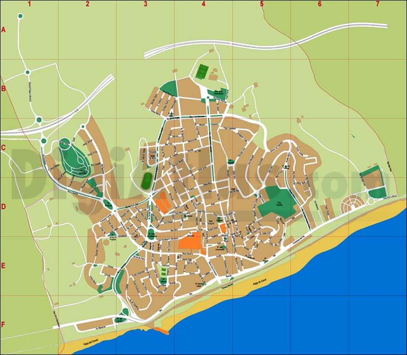 Canet de Mar (Barcelona) - city map