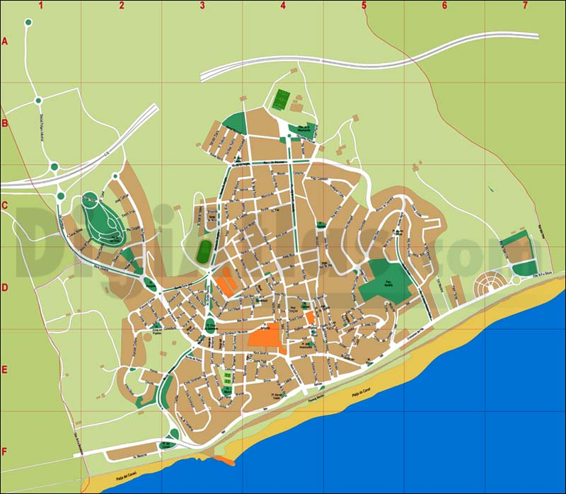 Canet de Mar (Barcelona) - city map