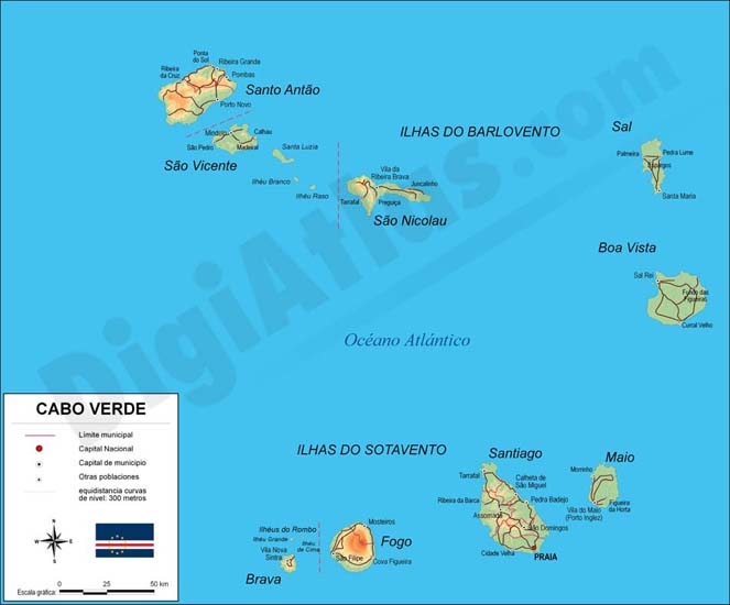 Map of CapeVerde