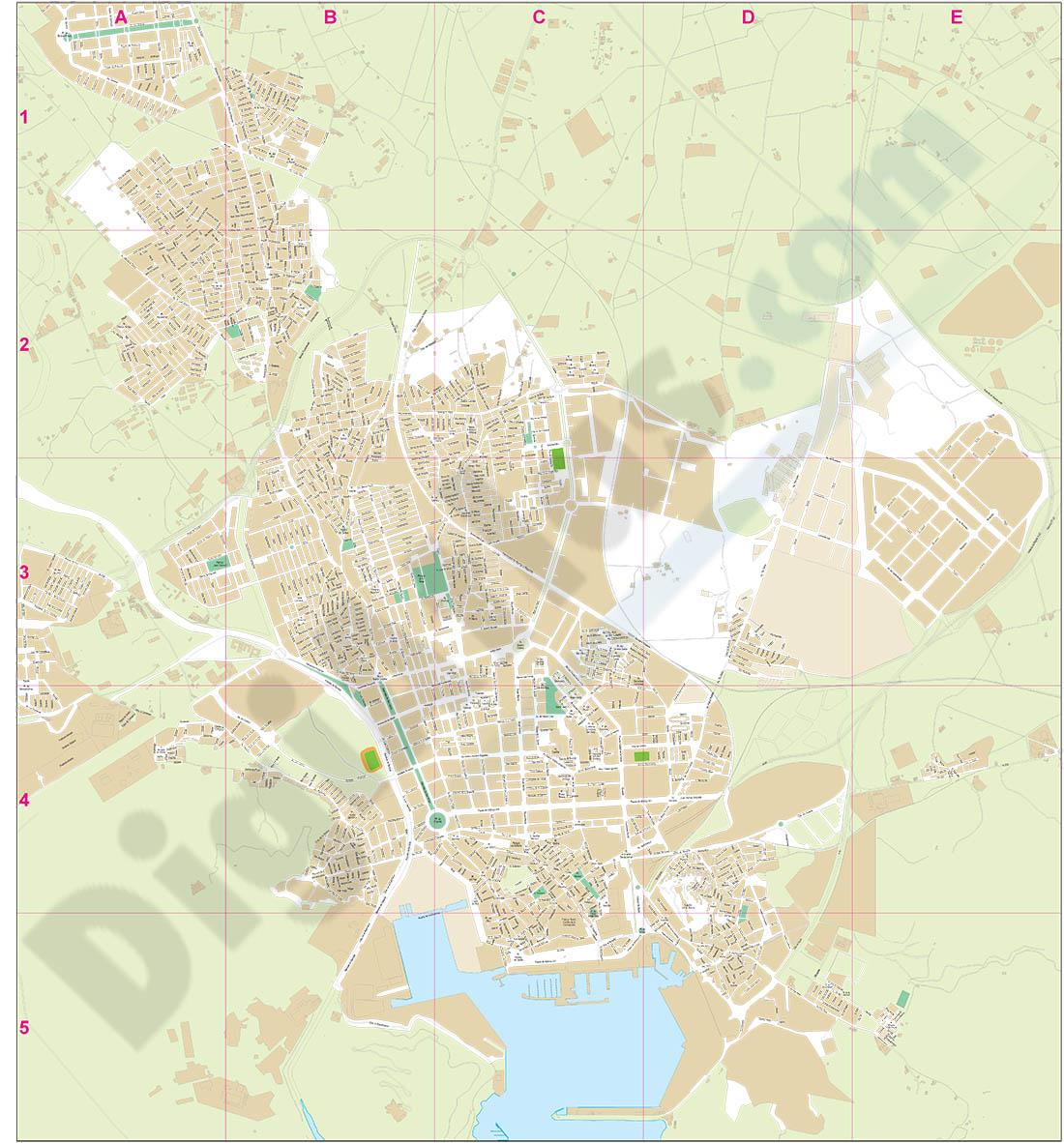 Cartagena - plano callejero
