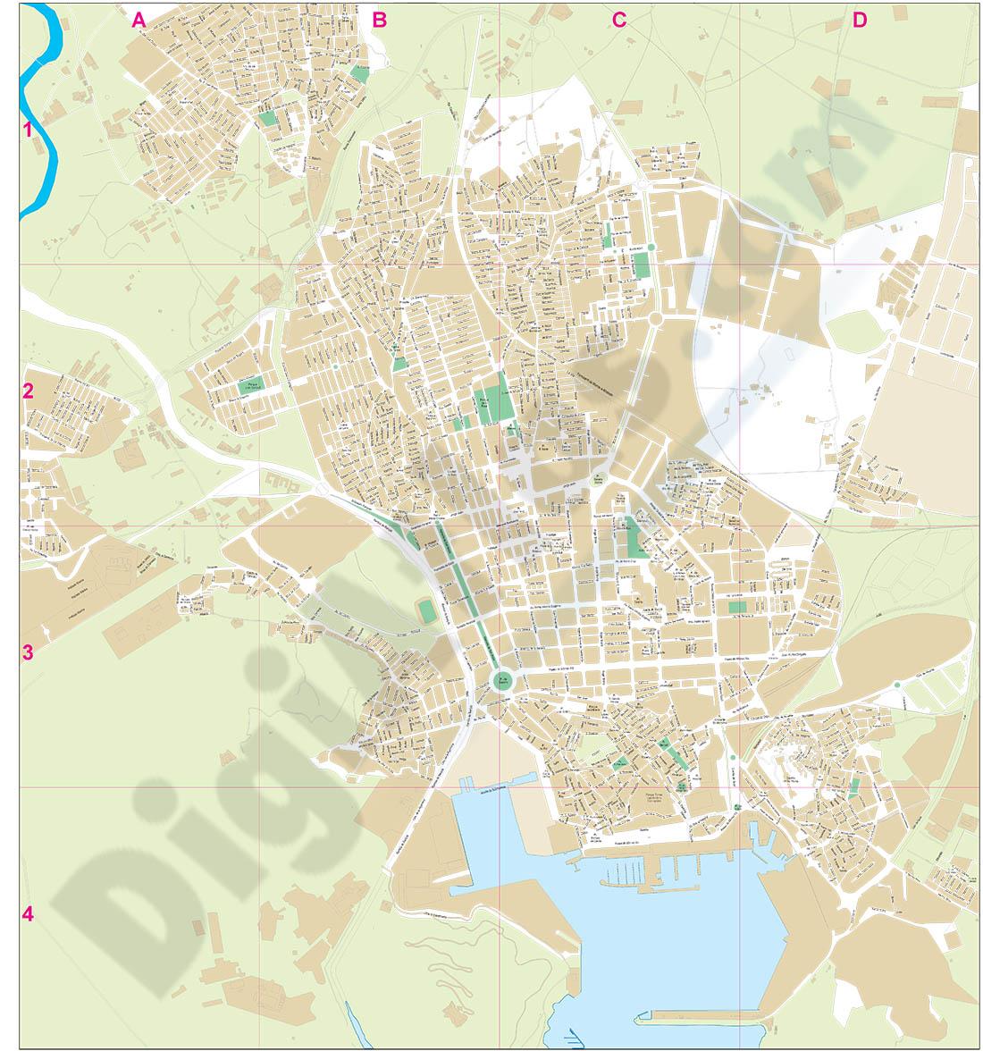 Cartagena - plano callejero del centro