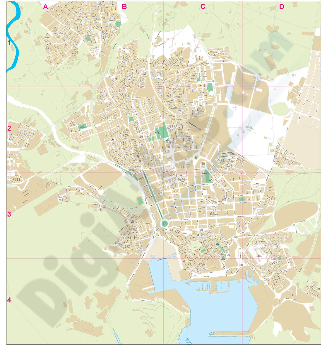 Cartagena (Murcia) - city map
