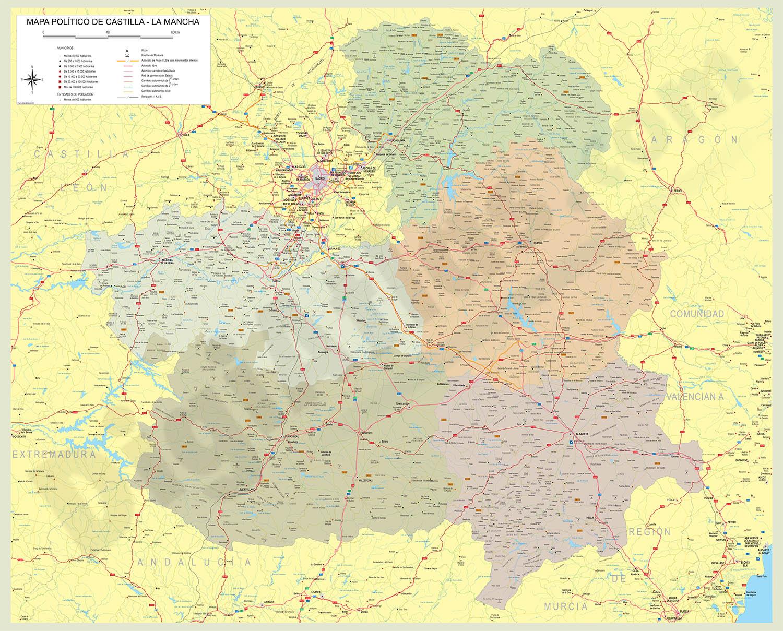 Map of Castilla-La Mancha autonomous community