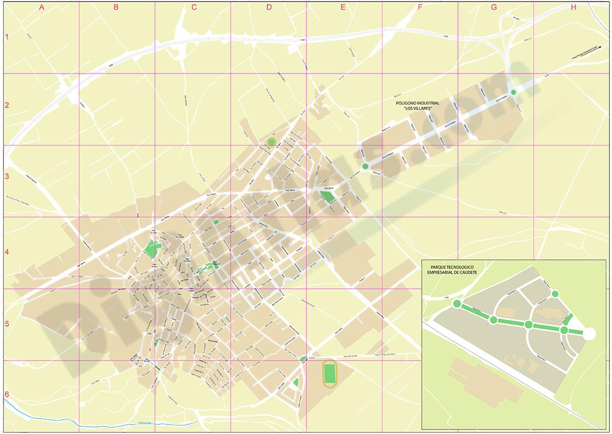 Caudete - city map