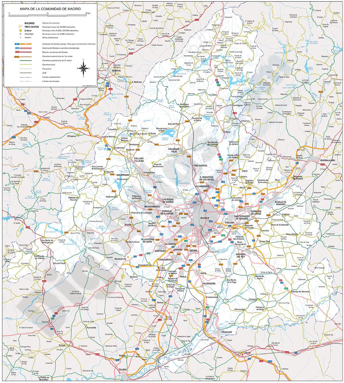 Madrid - Mapa de la Comunidad