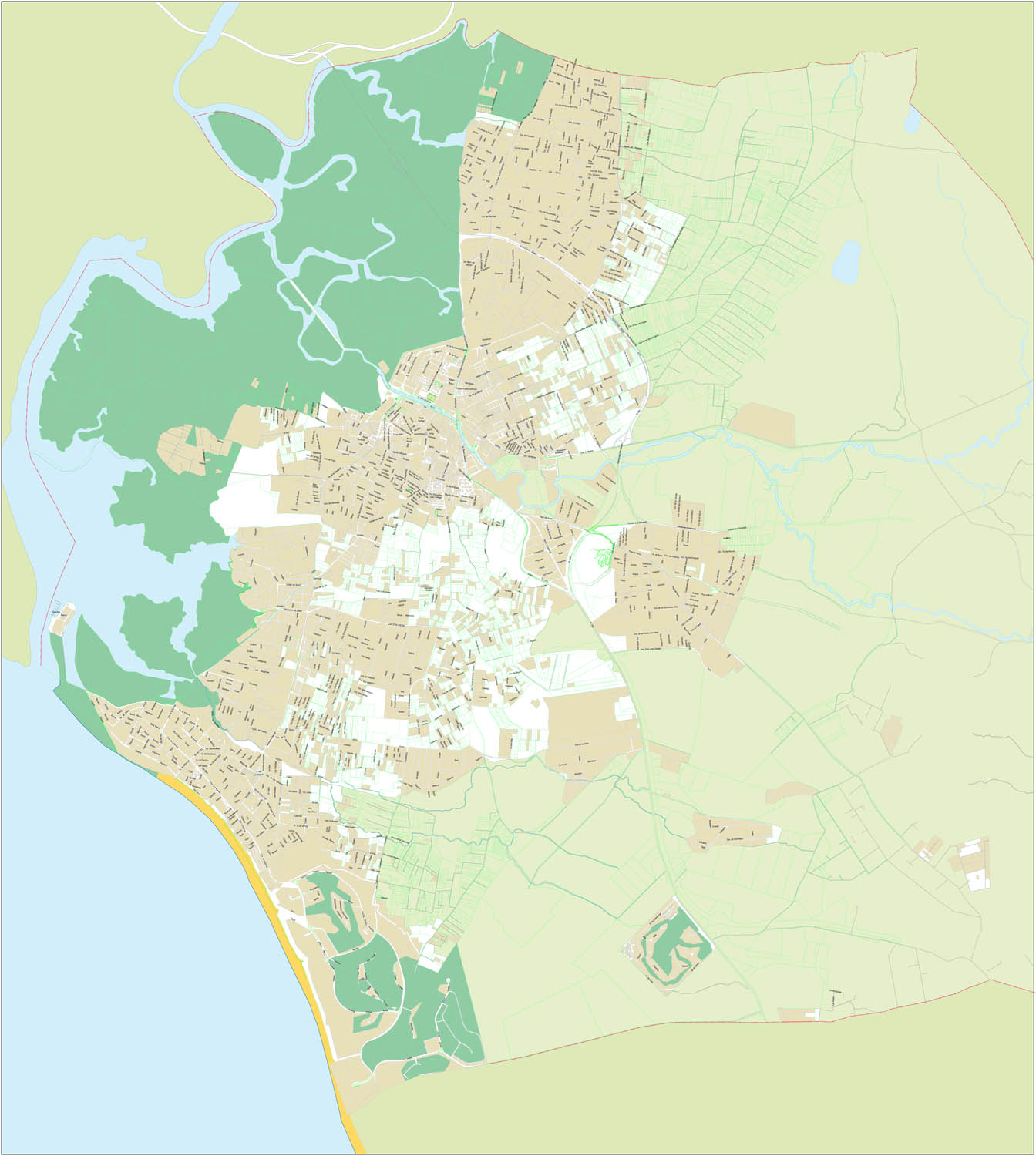 Chiclana de la Frontera - city map