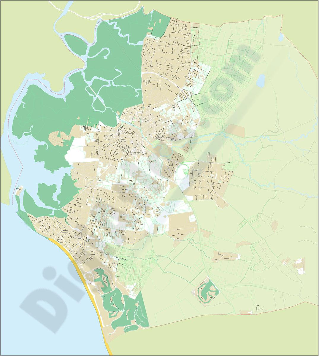 Chiclana de la Frontera - city map