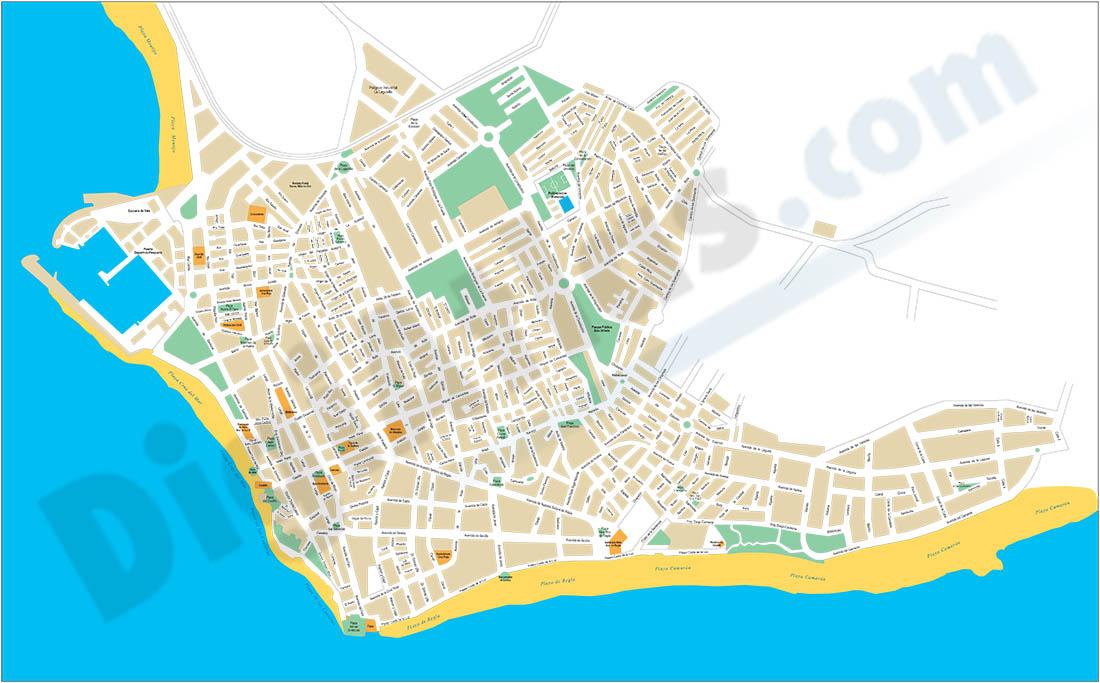 Chipiona (Cádiz) - plano callejero