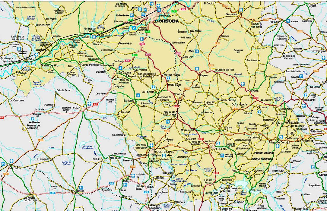 Mapa Provincia De Cordoba España.Mapa Provincia De Cordoba Espana Detraiteurvannederland