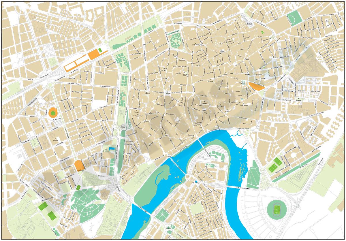 Mapa Callejero De Cordoba.Cordoba Plano Callejero Del Centro