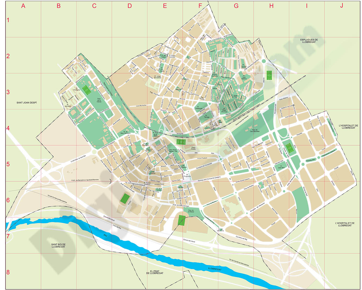 mapa calle cornella: