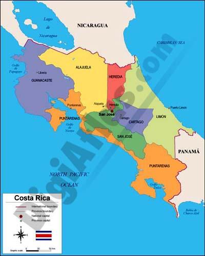 Map of Costa Rica