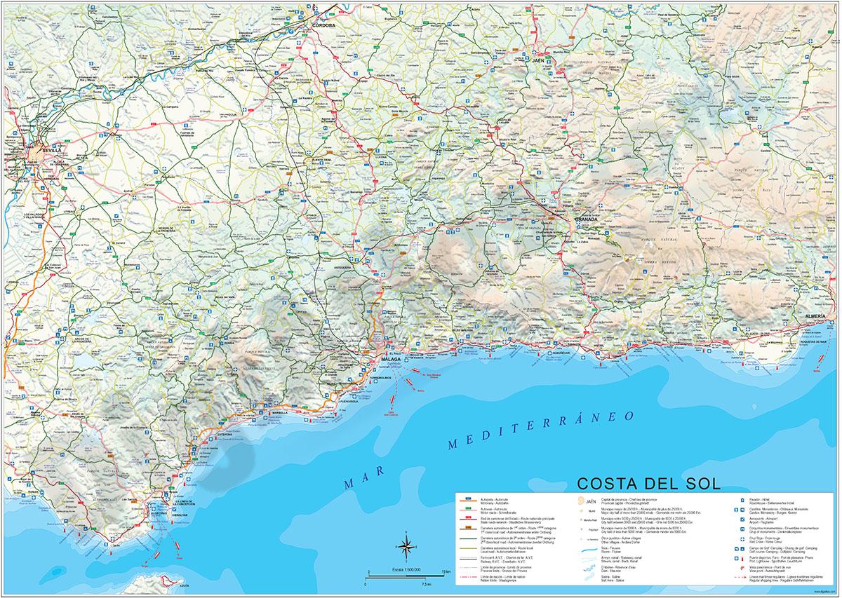 Mapa de Costa del Sol