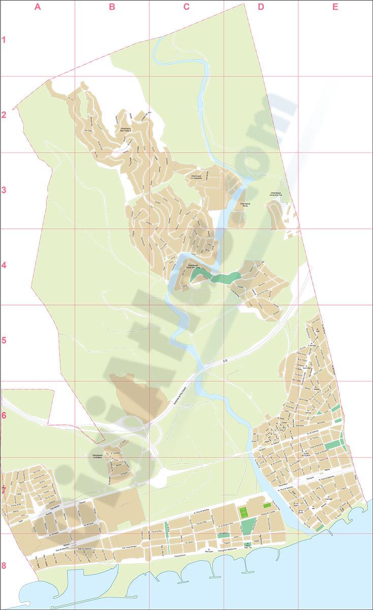 Cubelles (Barcelona) - city map
