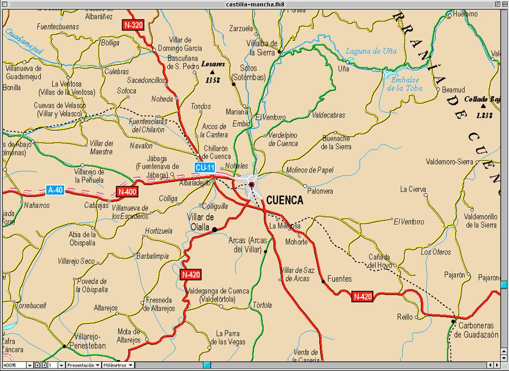Mapa Provincia De Cuenca España.Mapas De Cuenca