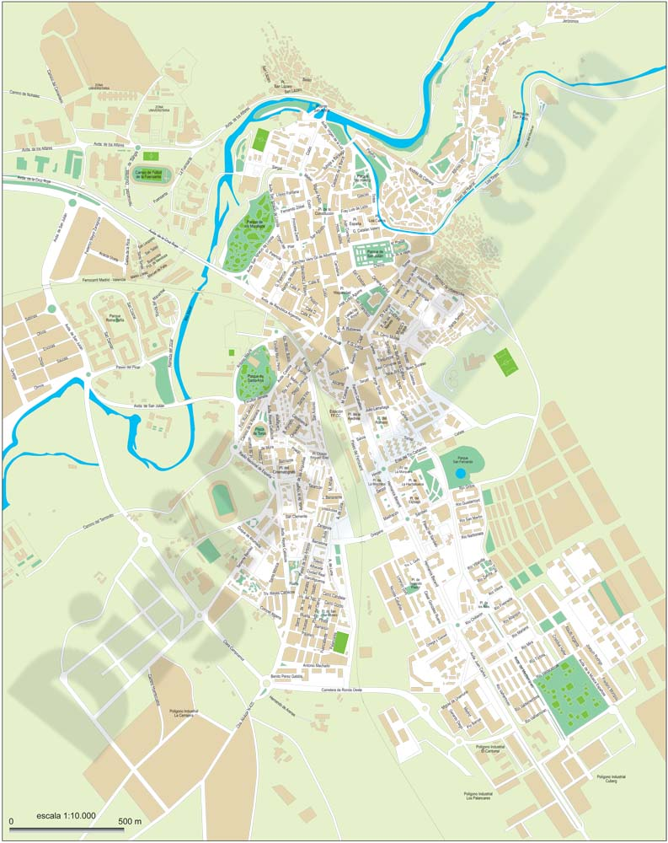 Cuenca city map PDF