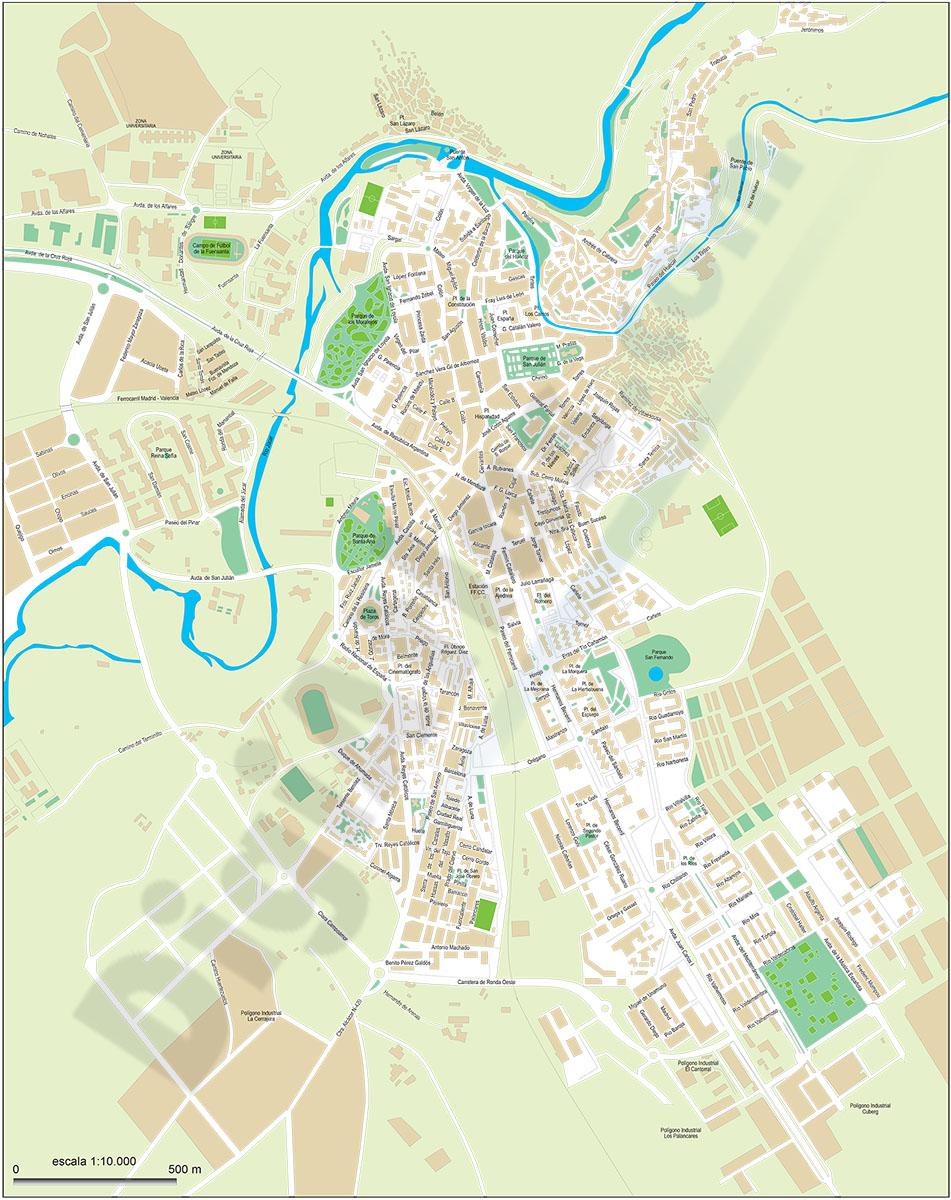 Cuenca - plano callejero