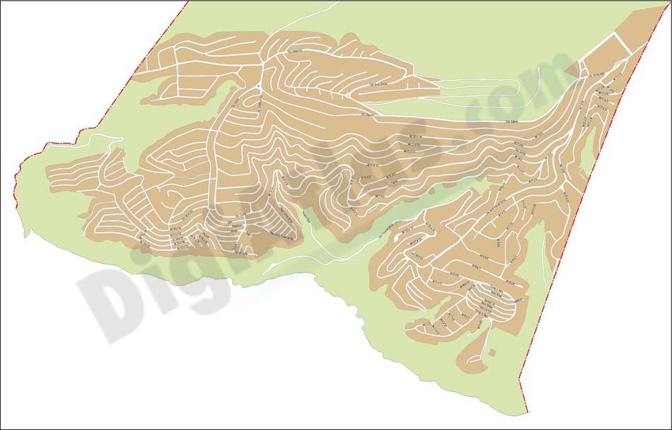 Benitatxell - city map