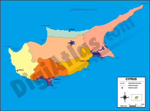 Map of Cyprus
