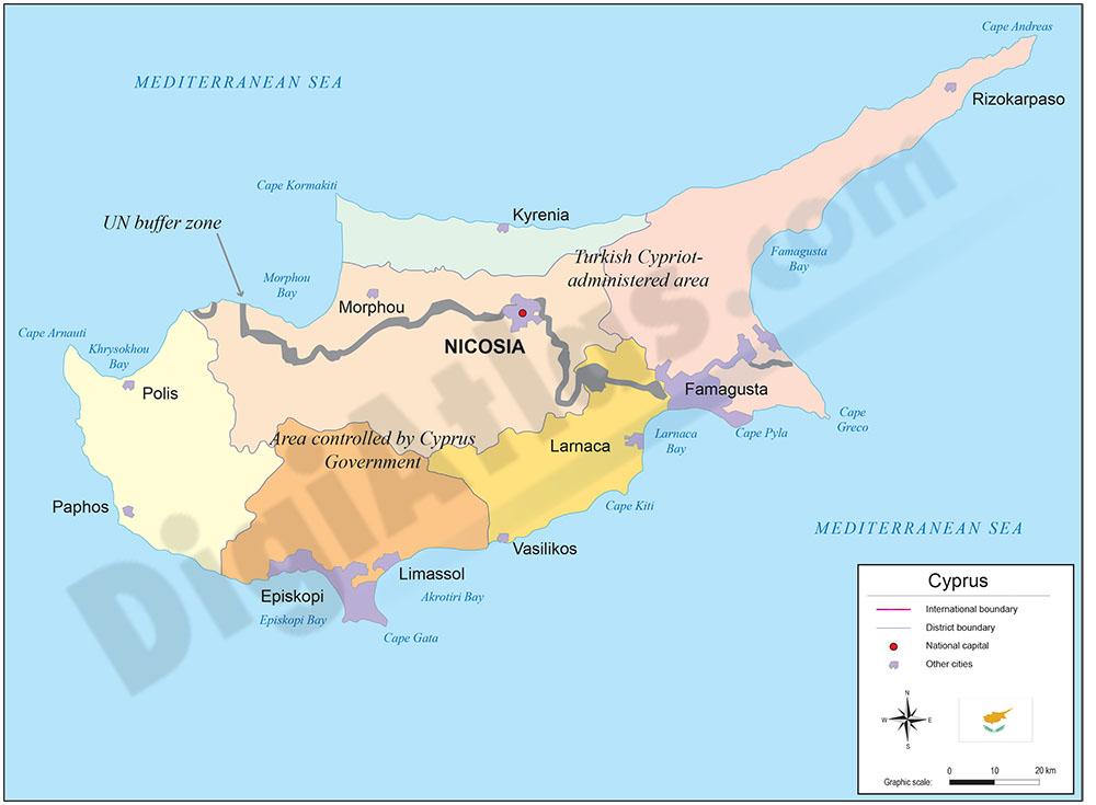 Mapa de Chipre