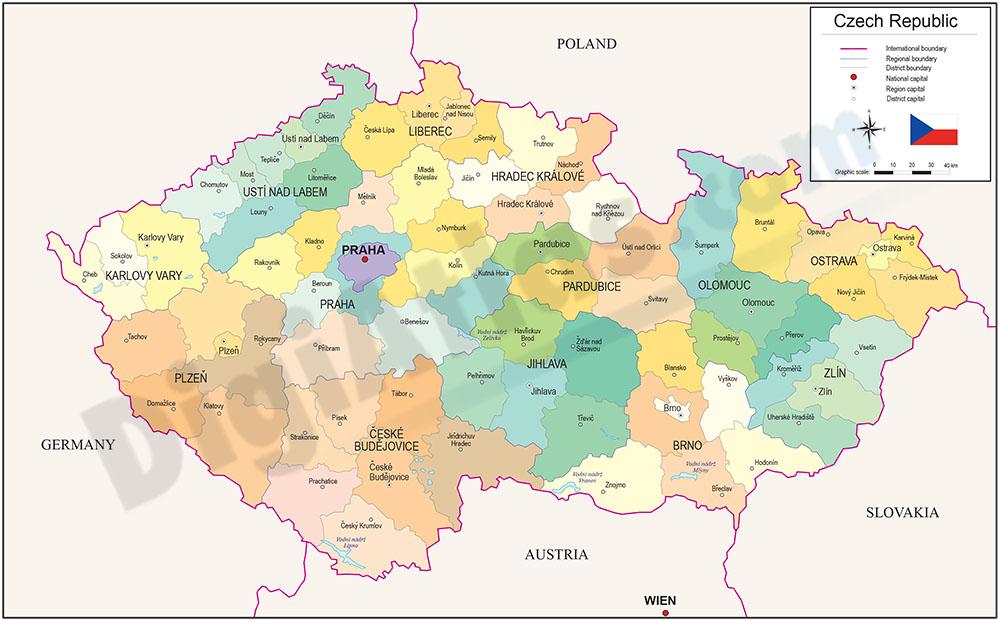 Mapa de República Checa
