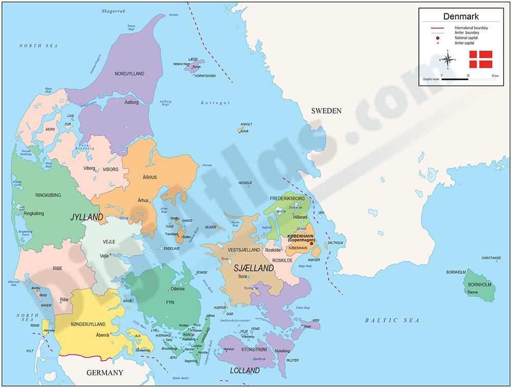 political maps of denmark. More Info, - Map of Denmark