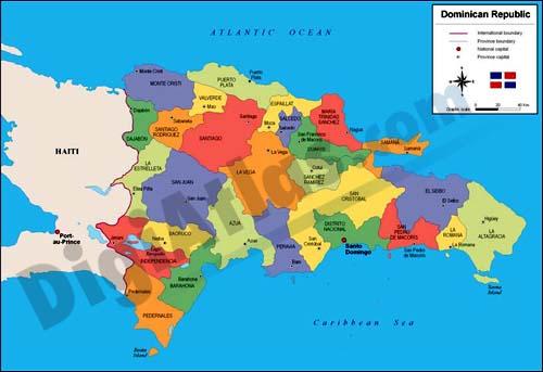 Mapa de República Dominicana