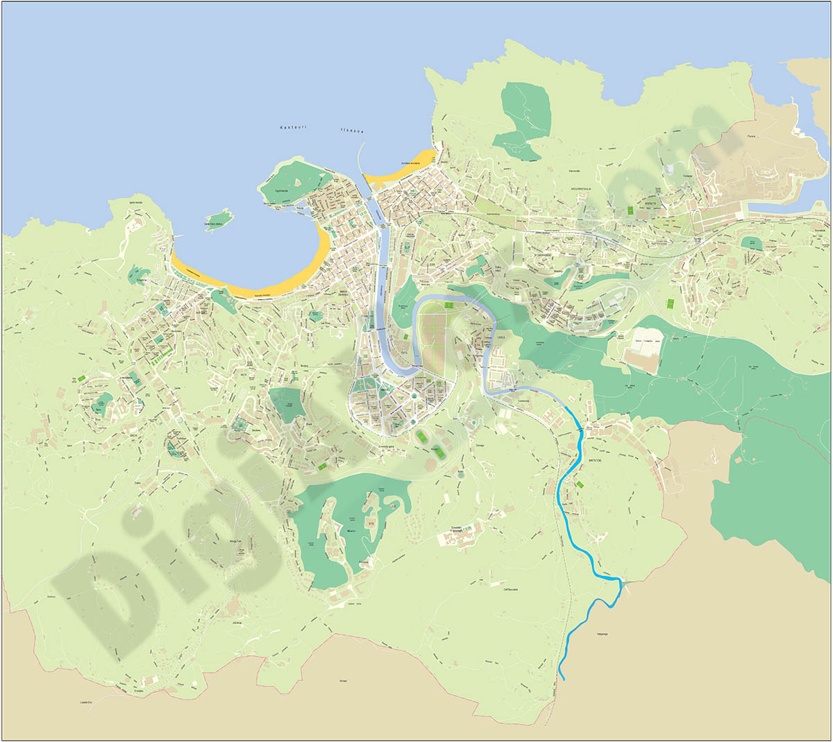 Donostia-San Sebastián - plano callejero