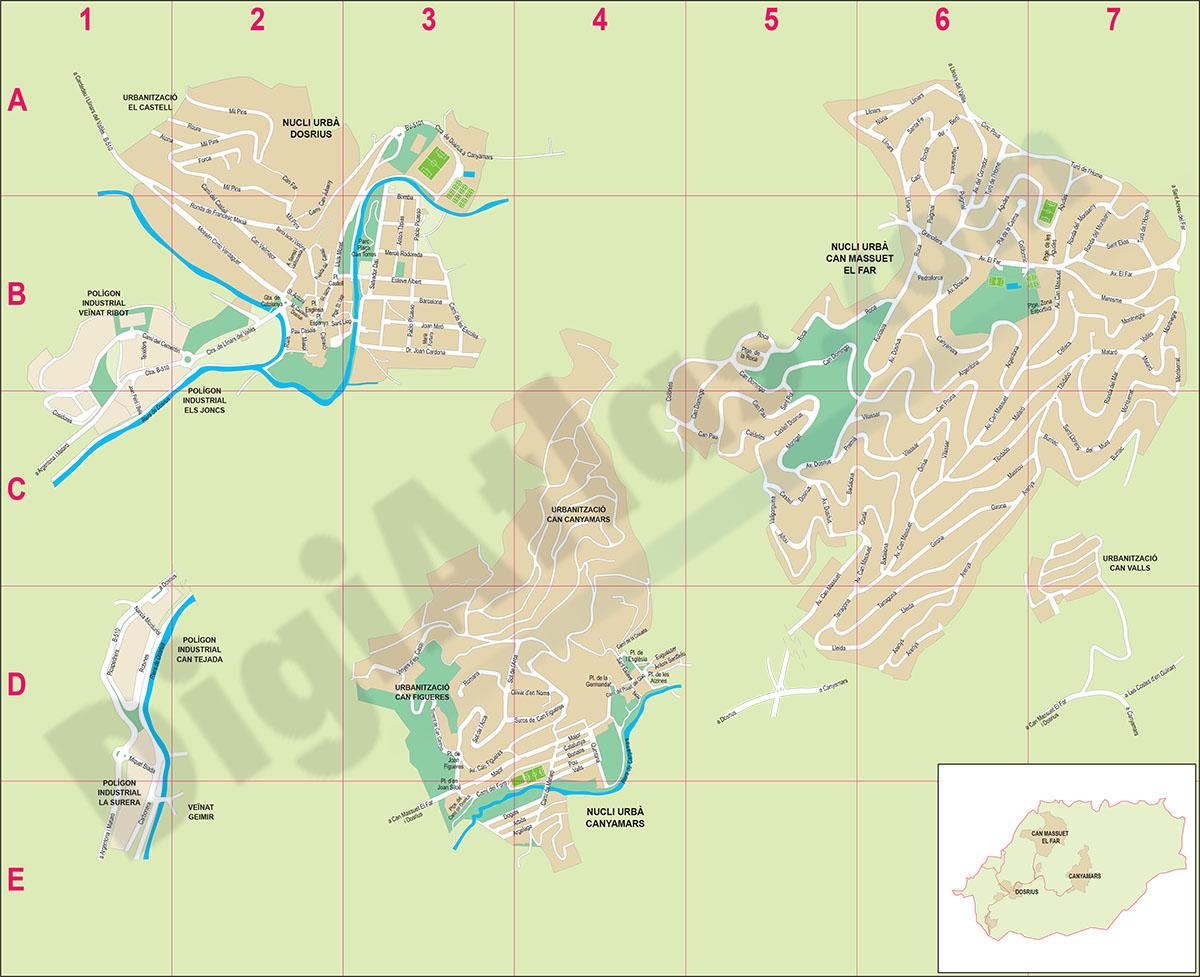 Dosrius - city map