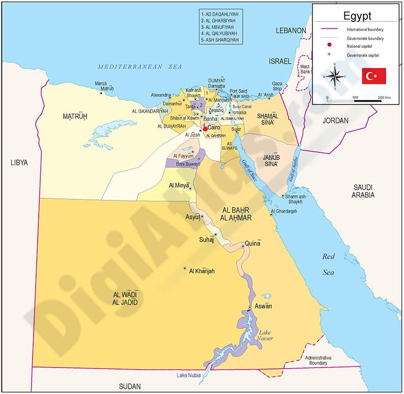 Mapa de Egipto