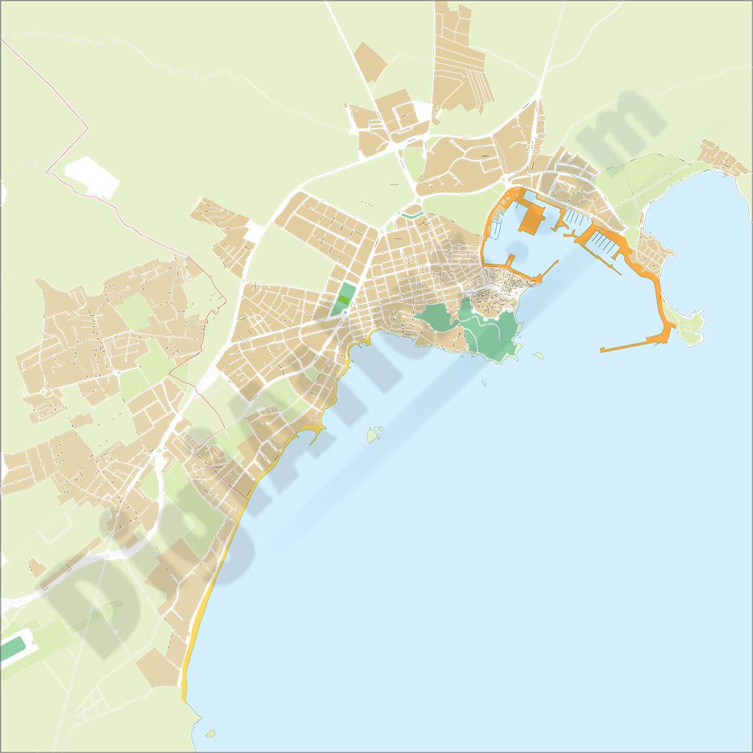 Eivissa ibiza balearic islands spain city map