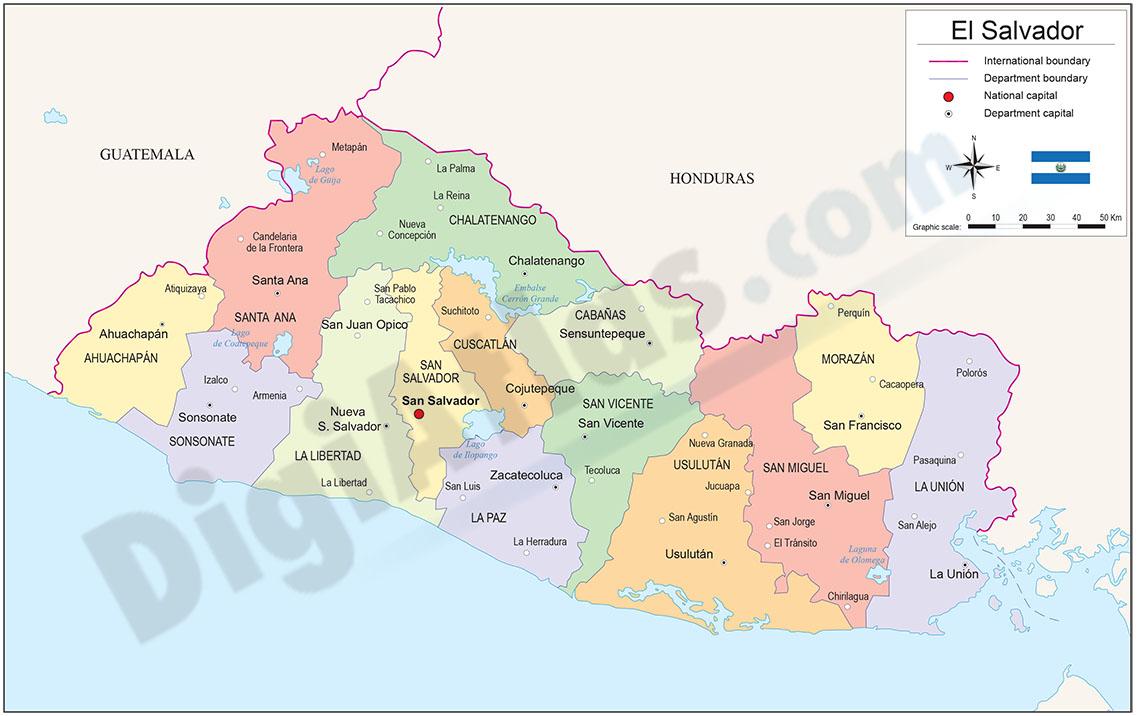 Map of El Salvador