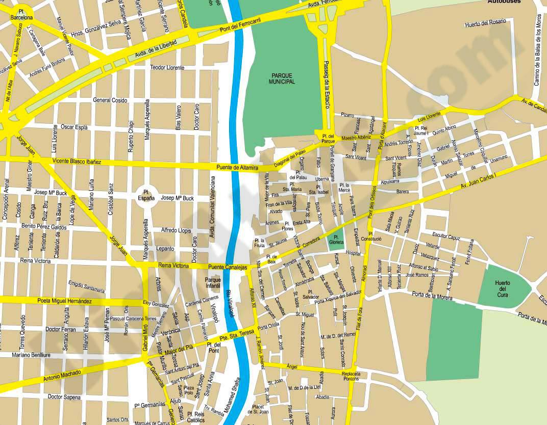 Elche elx plano callejero - Plano de almansa ...