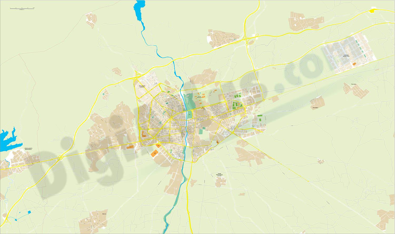 Elche-Elx - plano callejero y polígonos