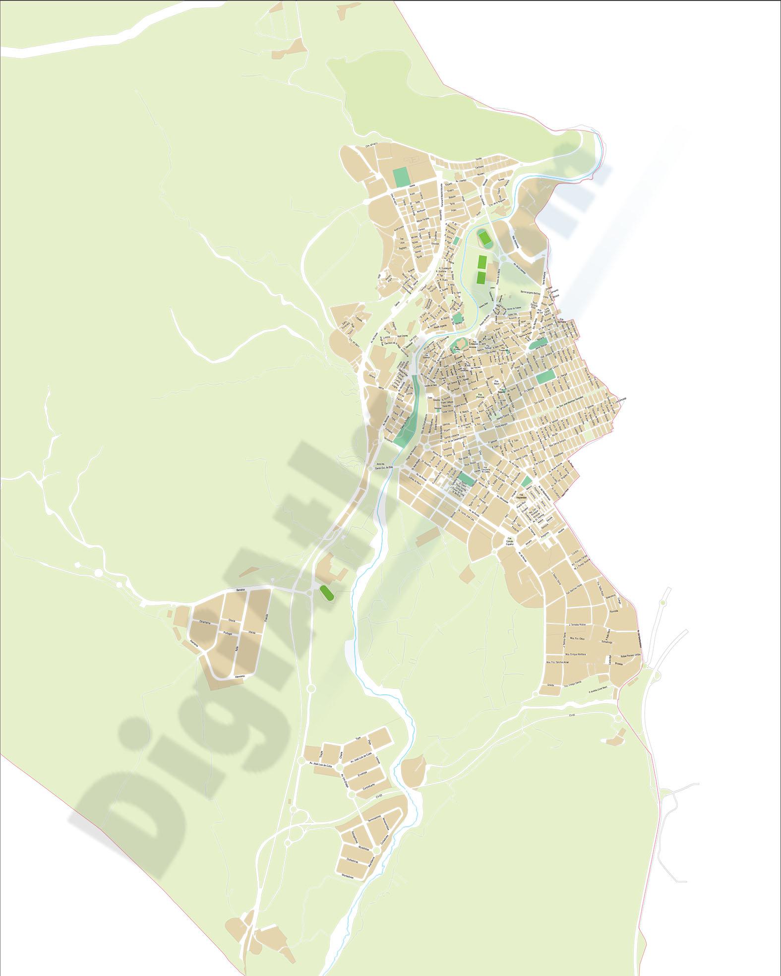 Elda (Alicante) - plano callejero