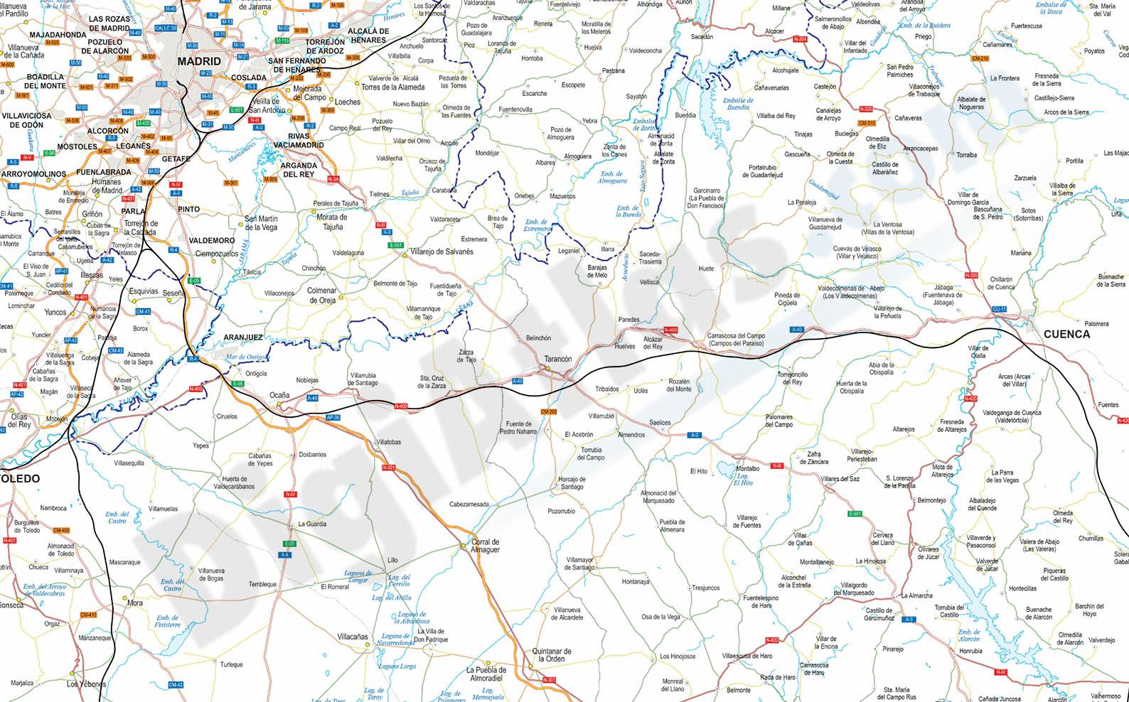 Mapa detallado de carreteras de espaa y portugal