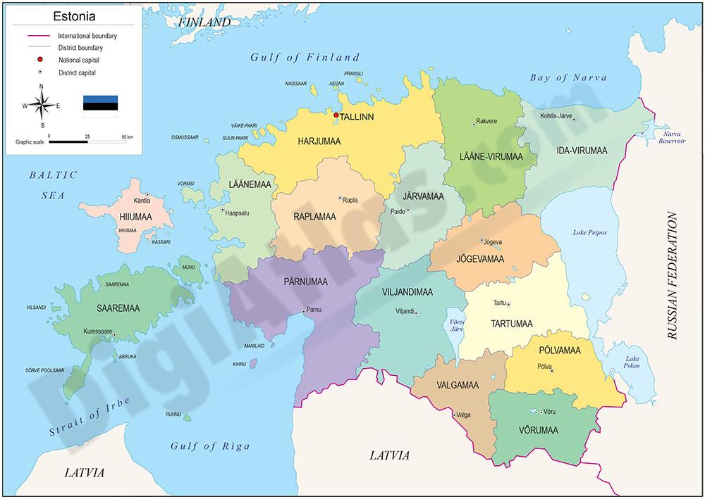 Mapa de Estonia