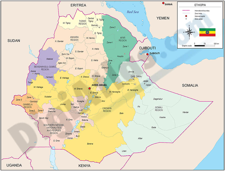 Mapa de Etiopia